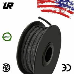 """50 FT 1/4"""" Black Expandable Wire Cable Sleeving Sheathing Br"""