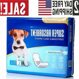 50 Pack small Size Waist Disposable Dog Diapers Male Wraps B