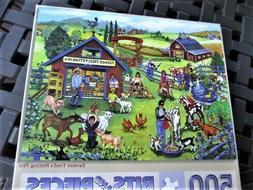 "500 Piece Sandy Rusinko Art Puzzle ""Farmer Fred's Petting Pe"