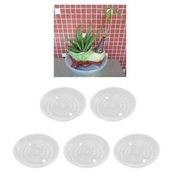 5Piece Clear Plant Pot Saucer Drip Trays Base Plate for Indo