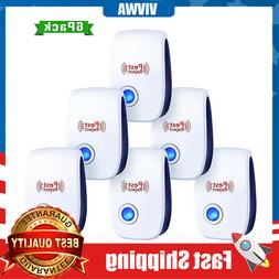 6 Pack  Upgraded Ultrasonic Electronic Pest Repeller Indoor
