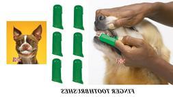 6 PET DOG CAT Finger Pro DENTAL Teeth RUBBER TOOTH BRUSH ORA