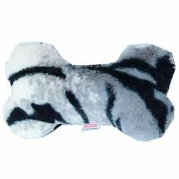 "Mirage Pet Products 6"" Plush Bone Dog Toy Siberian Tiger"