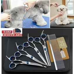 """6""""Professional Pet Dog Grooming Scissors Set Straight Curved"""