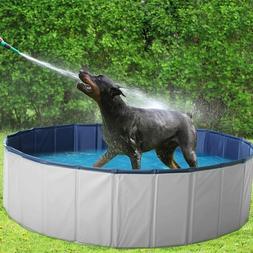 "63"" Outdoor Pet Dog Pool PVC Foldable Kids Swimming Pool Col"