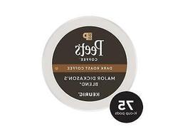 75 pods Keurig Hot Peet's Coffee Major Dickason's Blend * Da