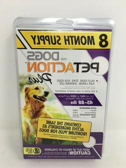 8 Month Supply Pet Action Plus Flea Tick For Large Dogs 45 -