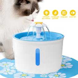87Oz Pet Fountain Cat Dog Feeder Mute Filters Dispenser Elec