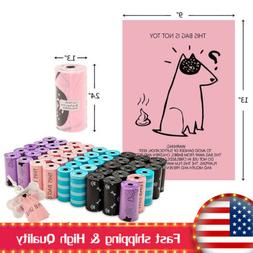 900PCS Dog Poop Bags for Pet Waste 45 Rolls Variety Colors B