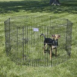 MidWest Foldable Metal Exercise Pen / Pet Playpen. Black w/