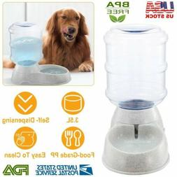 Pet Water Dispenser Station Replenish Waterer For Dog Cat Dr