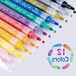 Acrylic Paint Pens 3mm Water Based Medium Tip For Painting D