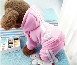 ADIDOG Pet Soft Warm Pet Dog Clothes Sports Four Legs Hoodie