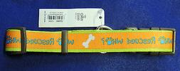 "Adjustable Nylon Dog Collar 1"" Who Rescued Who Coastal Pet A"