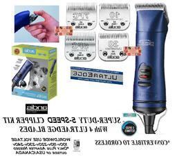 Andis AGRV Power Groom+ 5 Speed Clipper SET w/ 4 UltraEdge B