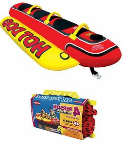AIRHEAD HD-3 Hot Dog Triple Rider Towable Inflatable 3-Perso