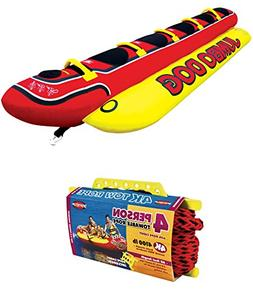AIRHEAD HD-5 Jumbo Hot Dog 5-Person Rider Inflatable Towable