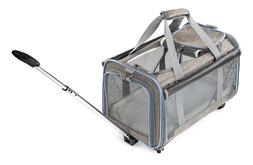 Airline Approved Removable Wheeled Pet Carrier for Medium &