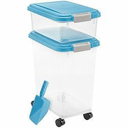IRIS Airtight Pet Dog Cat Food 25 lb 10 lb Container Combo K