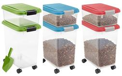 Airtight Pet Food Container Storage Combo Kit Dog Cat Rack F