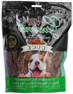 Loving Pets All Natural Premium Duck Strips Dog Treats, 12 O