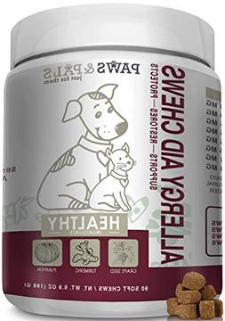 Paws & Pals Allergy Immune Supplement Aid for Dog & Cats- An