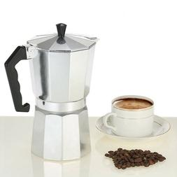 Aluminium Stove-Top Coffee Maker Manually Moka Pot  6, 9 Cup