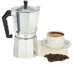 Aluminium Stove-Top Coffee Maker Manually Pot 1,3,6,9,12 Cup