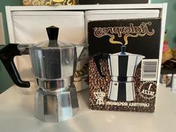 ITALEXPRESS Aluminum 1 Cup Stovetop Espresso Coffee Maker Co