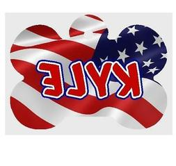 AMERICAN FLAG PET ID TAG Personalized Any Name Dog Tag Print