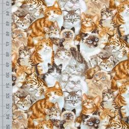 Animal Fabric - Petpourri Packed Pet Cats 1253 - Elizabeth's