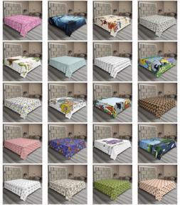 Ambesonne Animal Pattern Flat Sheet Top Sheet Decorative Bed
