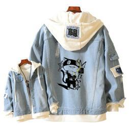 Anime PERSONA 5 MONA Cosplay Hooded Casual Jackets Jeans Coa