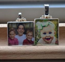 Any Personalized Photo Custom Image Scrabble Necklace Charm