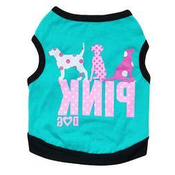 Aqua 100% Cotton Small Pet Clothes Vest T Shirts Coat  for F