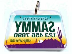 Arizona Car License Plate Pet ID Tags custom name id4pet