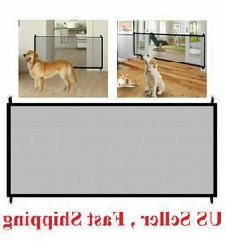 Baby Pets Dog Cat Safety Gate Mesh Fence Home Kitchen Net Po