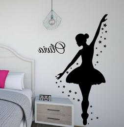 Ballerina Wall Decal, Dance Wall Decor, Personalized Decal,