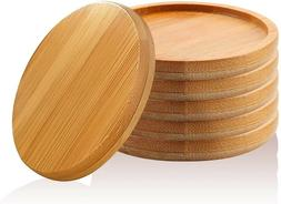 Bamboo Plant Tray Handmade Pot Drainage Saucer for Plants Co