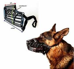 basket cage dog muzzle size 4 - medium - adjustable straps -