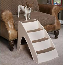 Beige Lite Pet Stairs Durable Non Folding Design for Small M