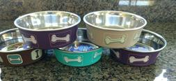Bella Bowl by Loving Pets Small Stainless Steel Interior 1.9
