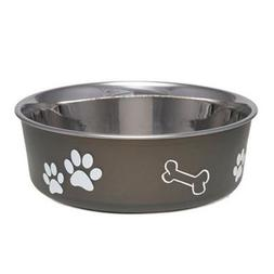 Bella Dog Bowl  Size: Small , Color: Espresso
