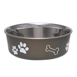 Bella Dog Bowl  Size: Small , Color: Espresso