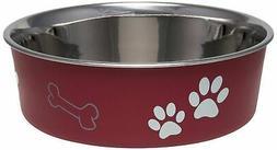 Bella Dog Bowl  Size: Large , Color: Merlot