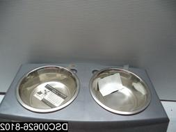 Bergan Elevated Dog Pet Bowl Dish Feeder Black Gray Large 11
