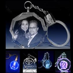 Best Birthday gift Personalized Photo  Engraved Crystal Key