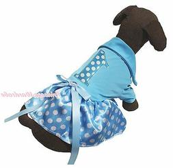 Birthday 1ST T-shirt Top Blue White Dots Gauze Skirt Pet Dog