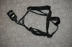 Black Nylon Adjustable Harness for Pets 3/4 Inch Width, w/ S