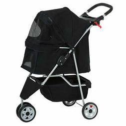 black pet stroller cat dog